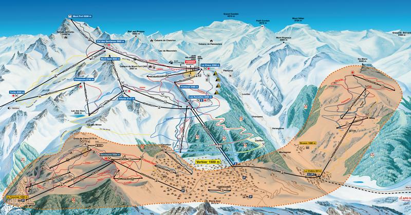 Bruson and Savoleyres Ski Area