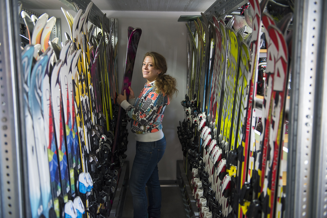 Verbier ski storage - store your skis and boots at Les Ruinettes