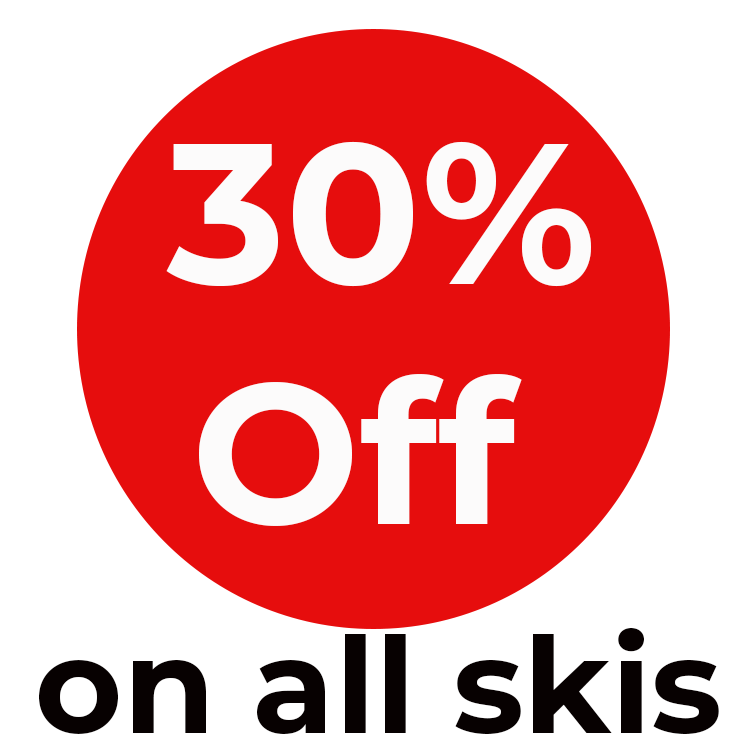 Spring sales on skis and boots