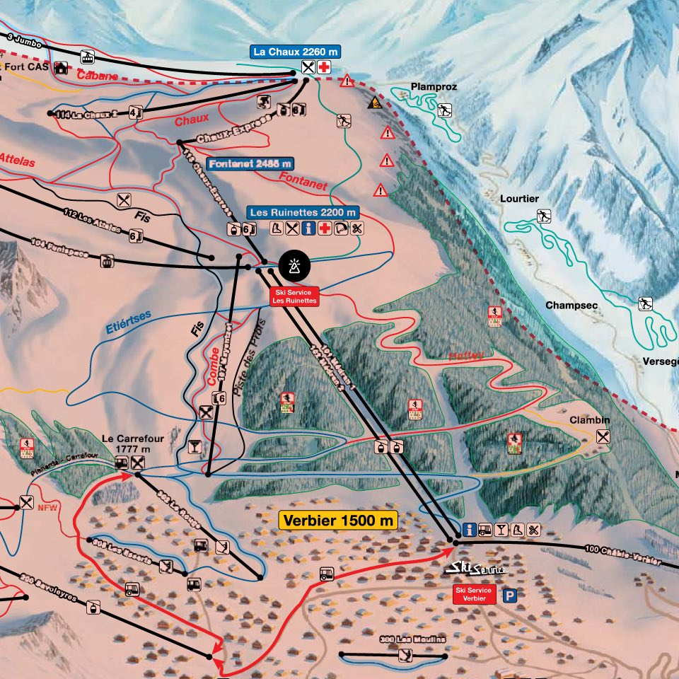 Ski Service Verbier and Ski Service Les Ruinettes locations