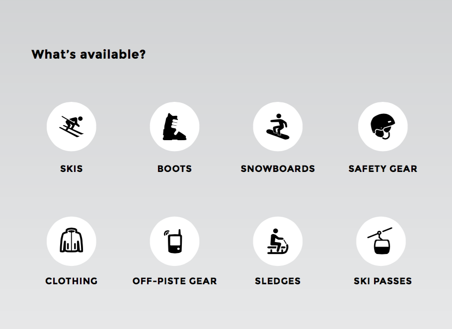 Verbier ski rental extra options