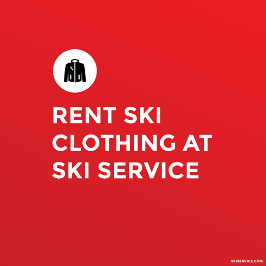 Rent ski clothing at Ski Service Verbier