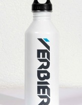 Verbier logo white Mizu bottle