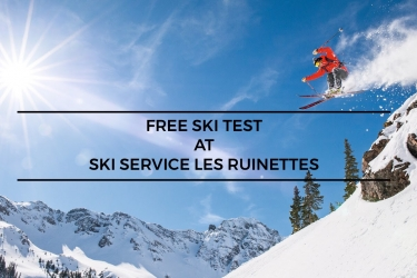 Free ski tests at Ski Service Les Ruinettes