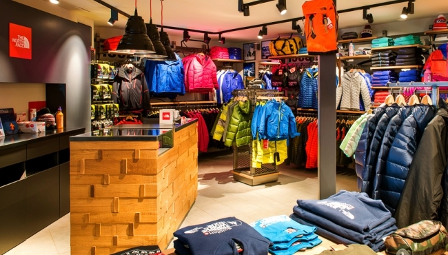 The North Face Verbier shop interior