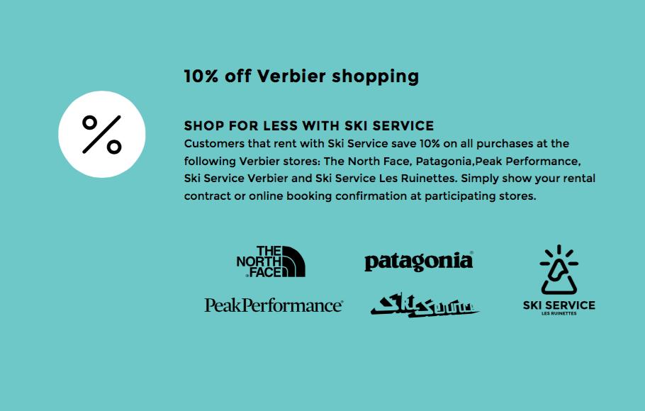 Verbier ski rental shopping discount