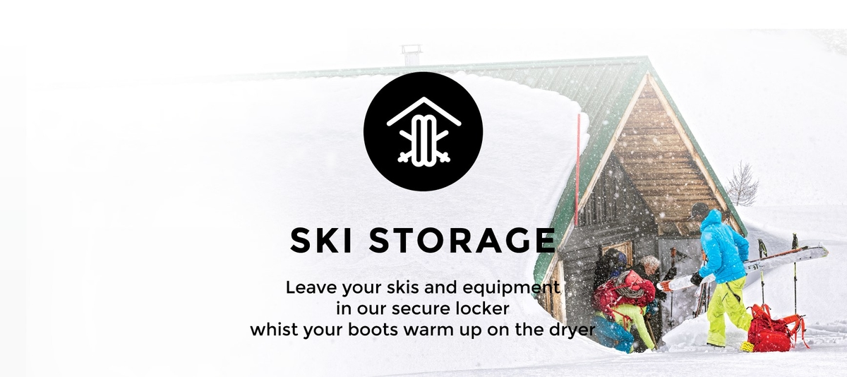 Verbier ski storage at Ski Service
