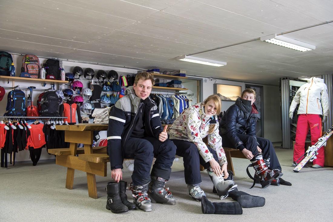 Verbier ski storage at Ski Service Les Ruinettes